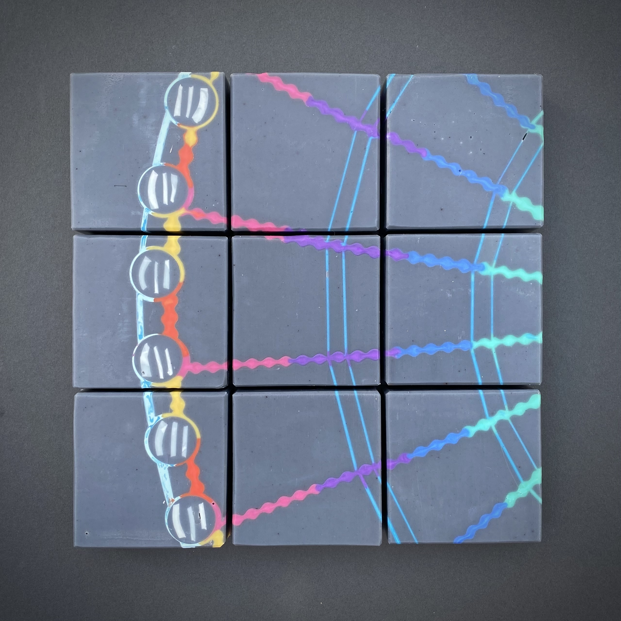 ferris wheel reversed mosaic