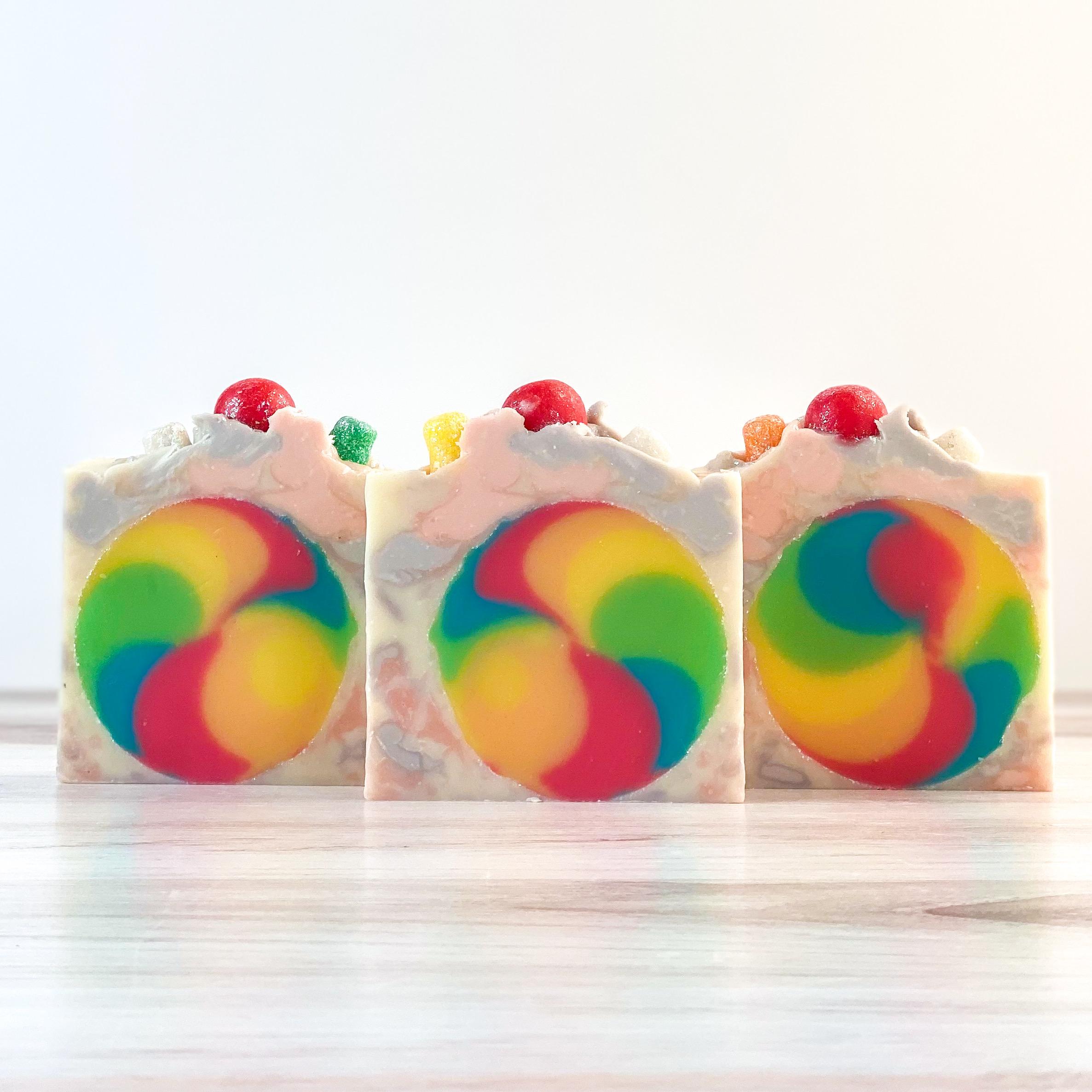 rainbow candy soap