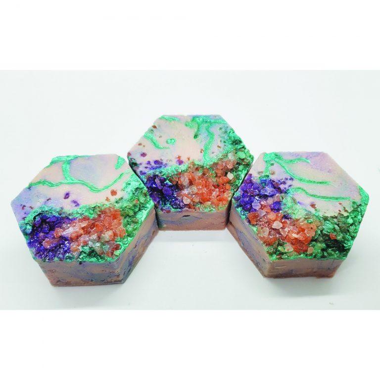 broken fluorite soap