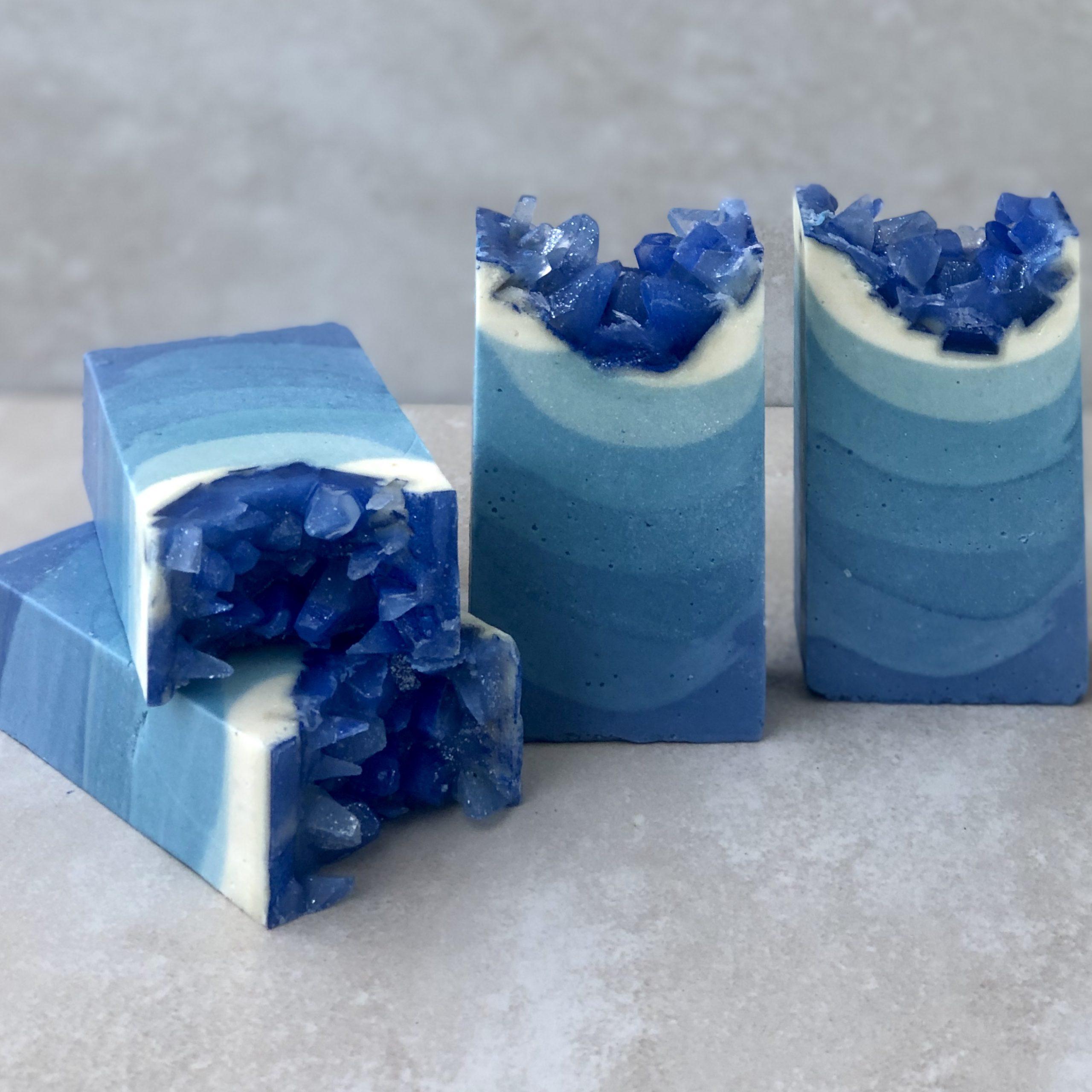 moody blue geode