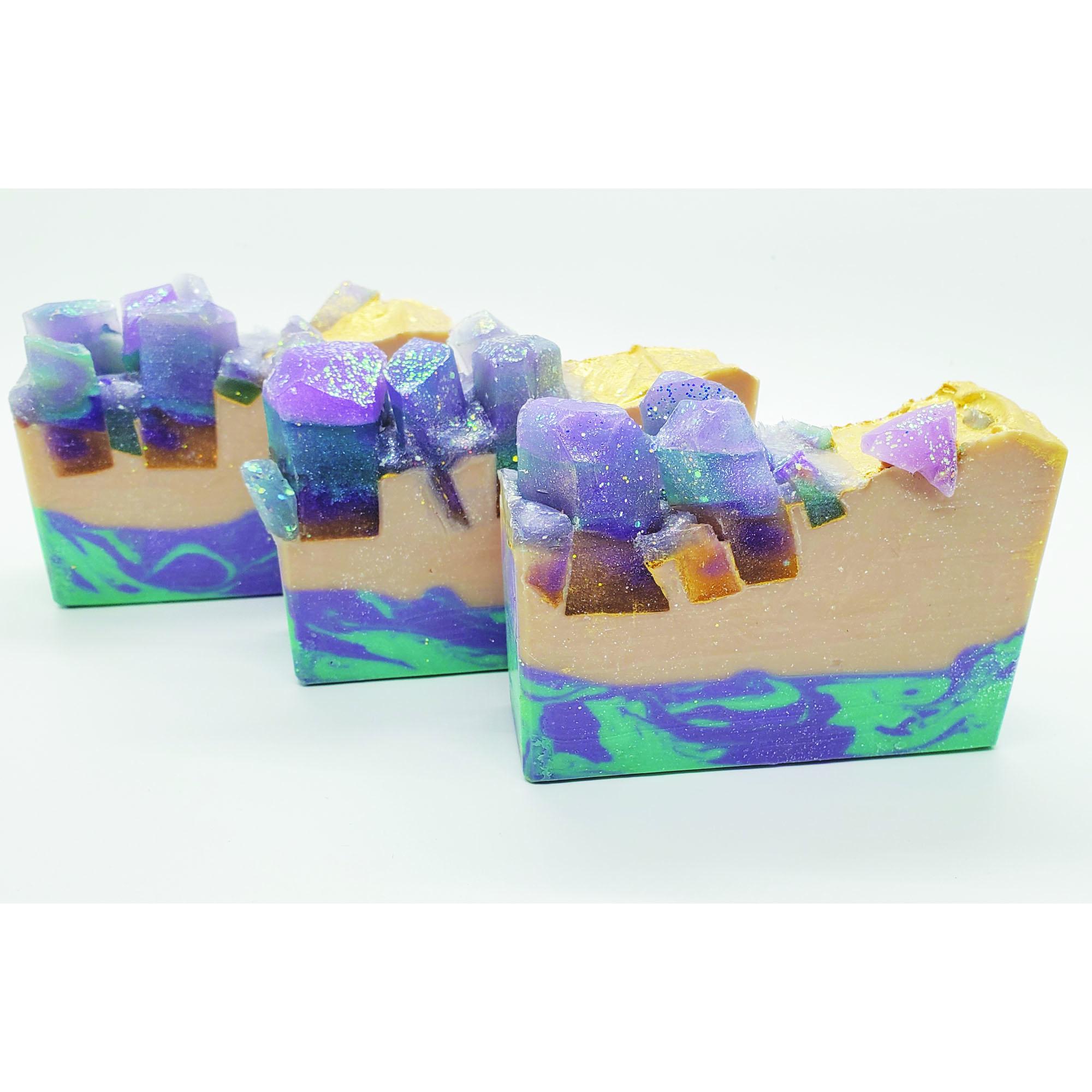 fluorite crystals soap