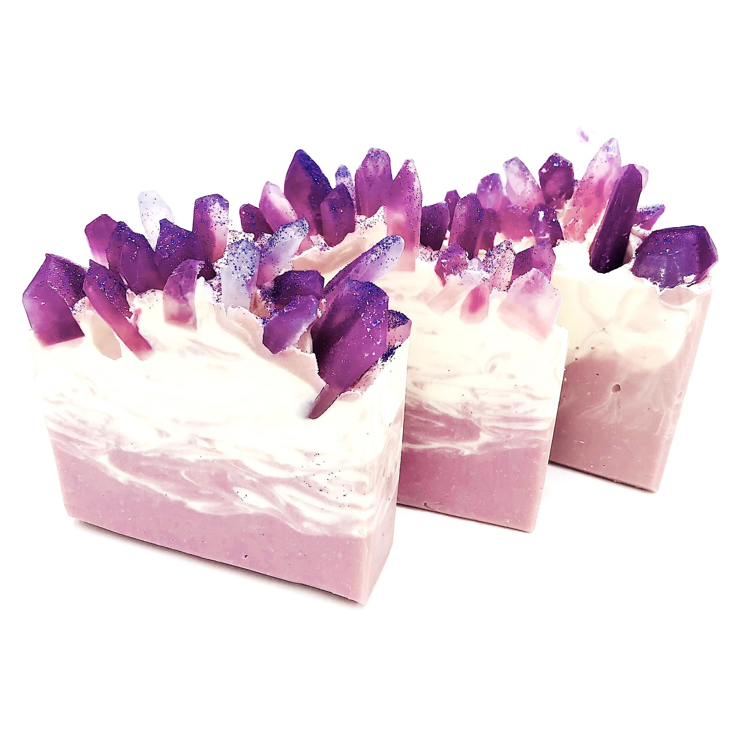geode crystal soap