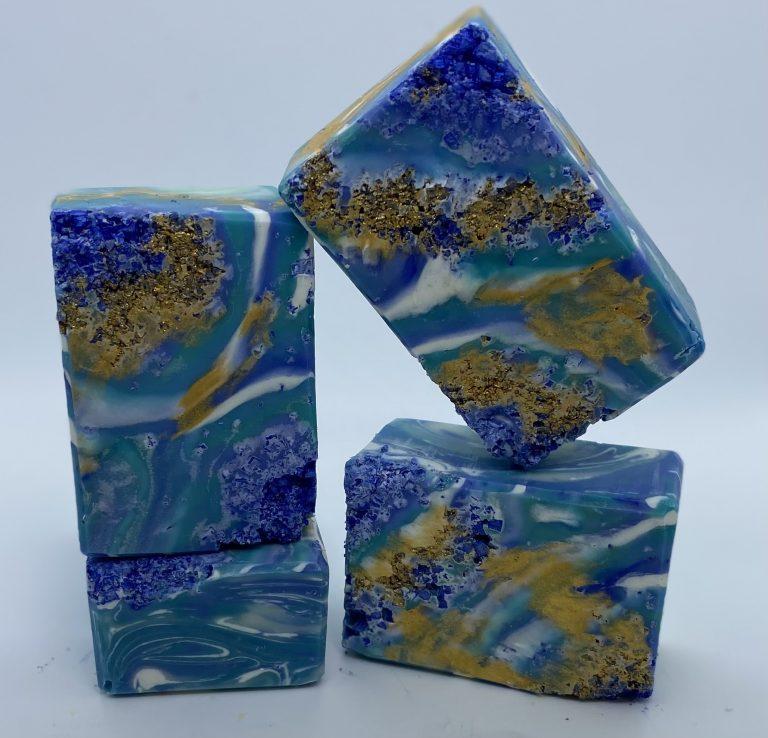 gold blue agate