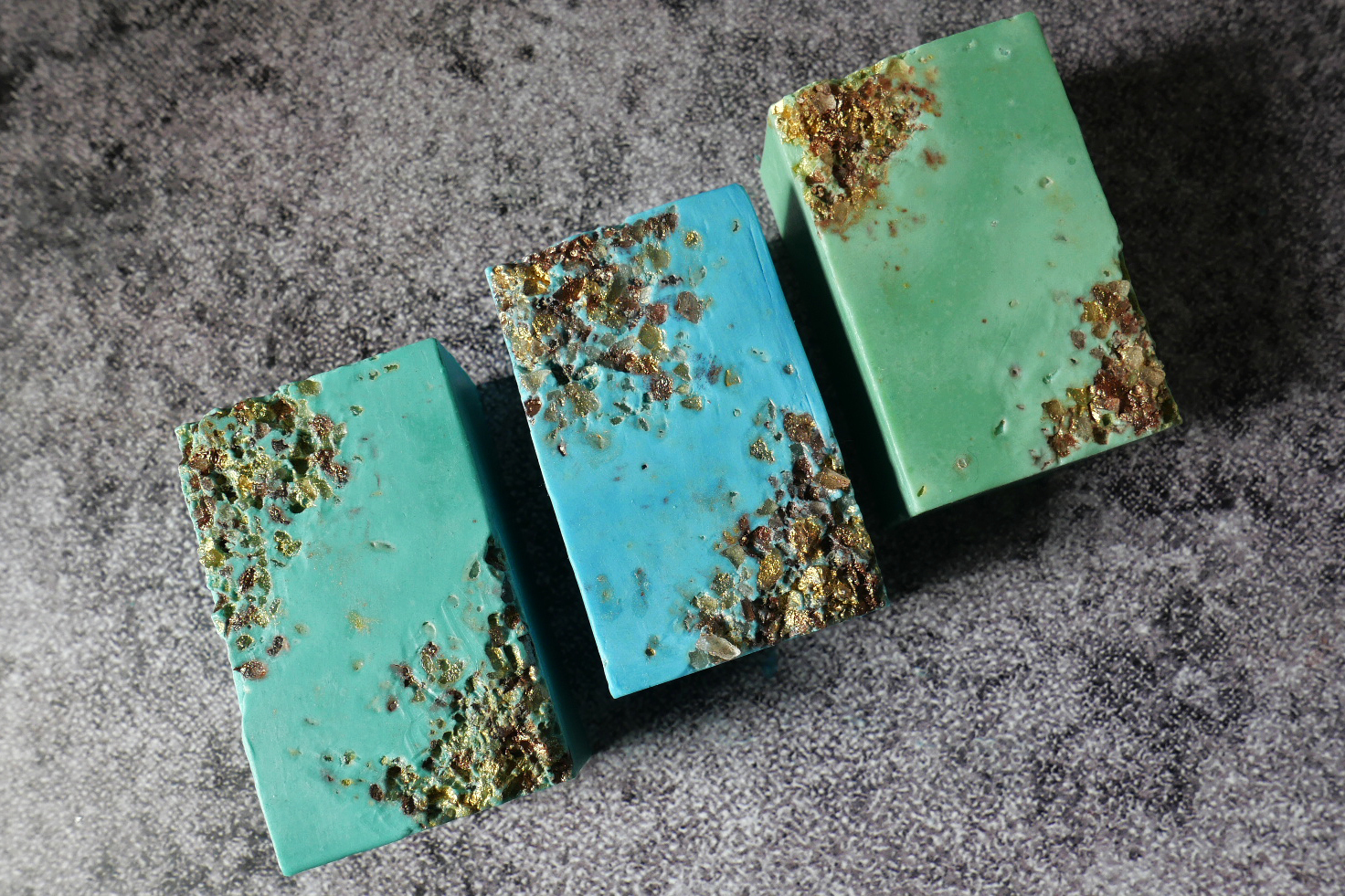 vintage style salt crystal soaps