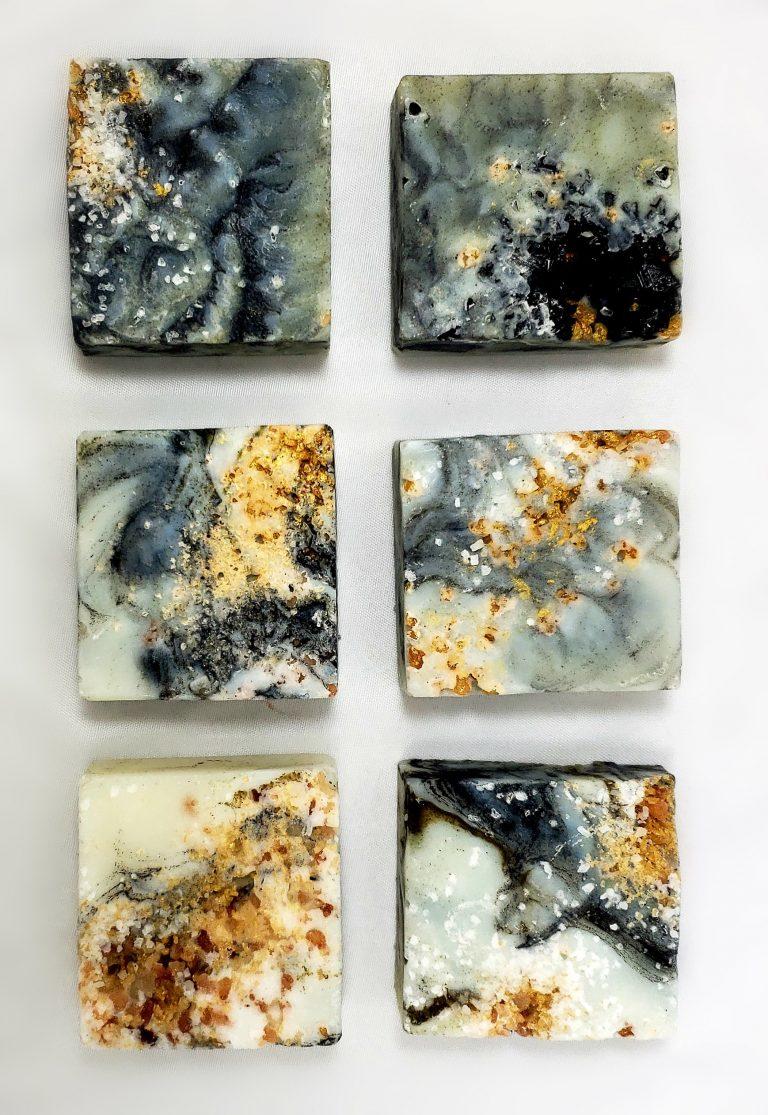 gold veined granite