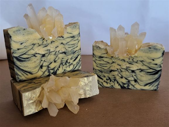 tiny bubbles champagne geode soap