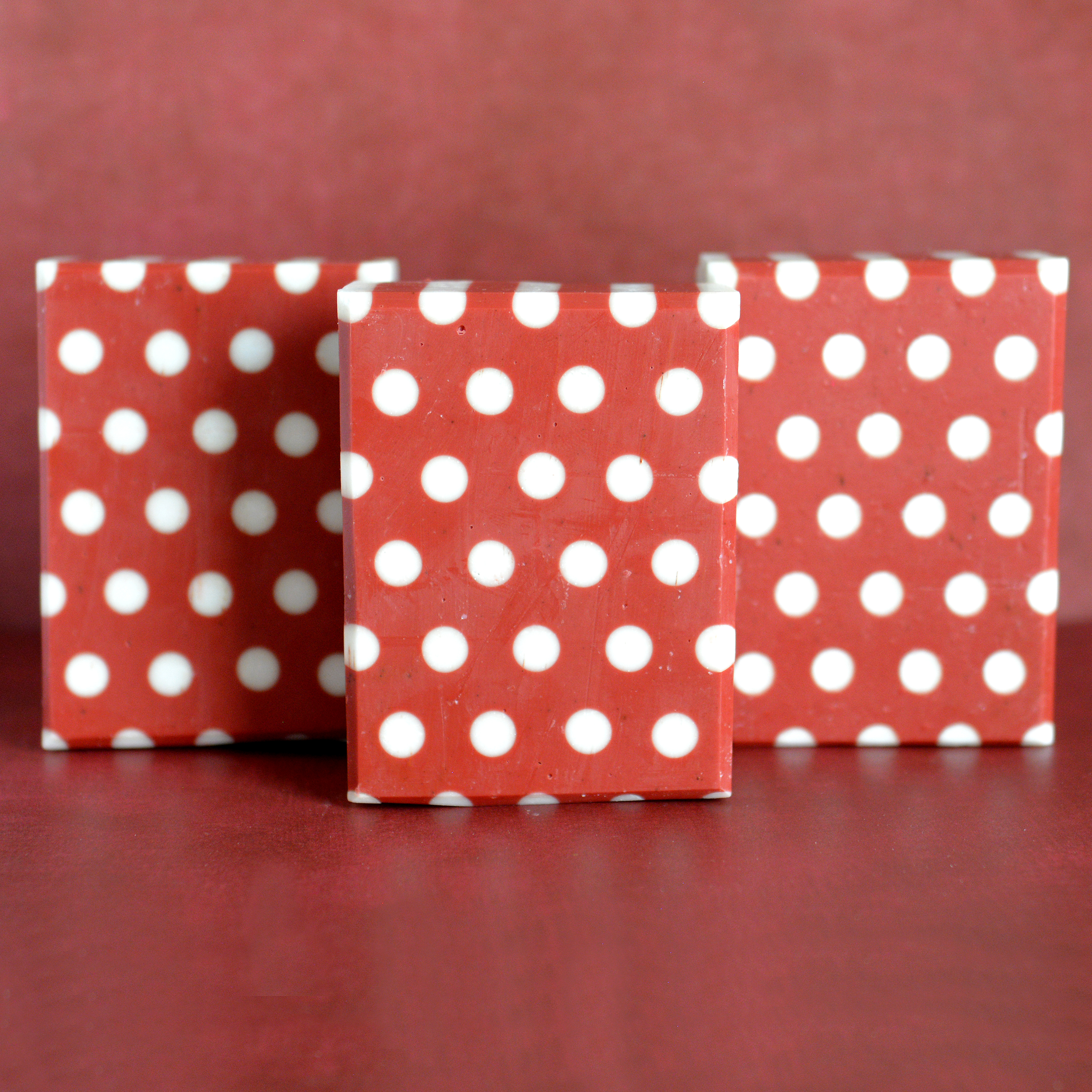 lady mouse red and white dots