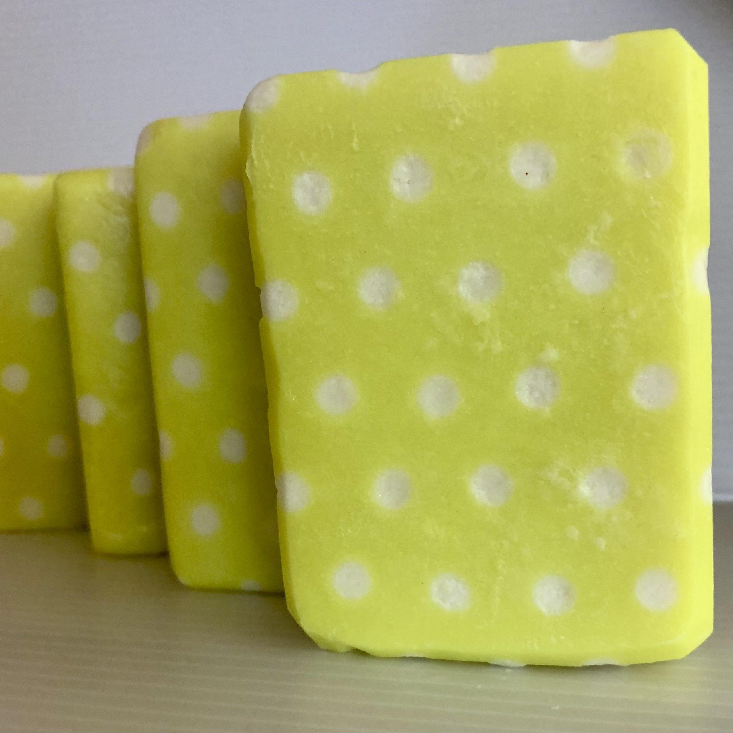yellow polka dots
