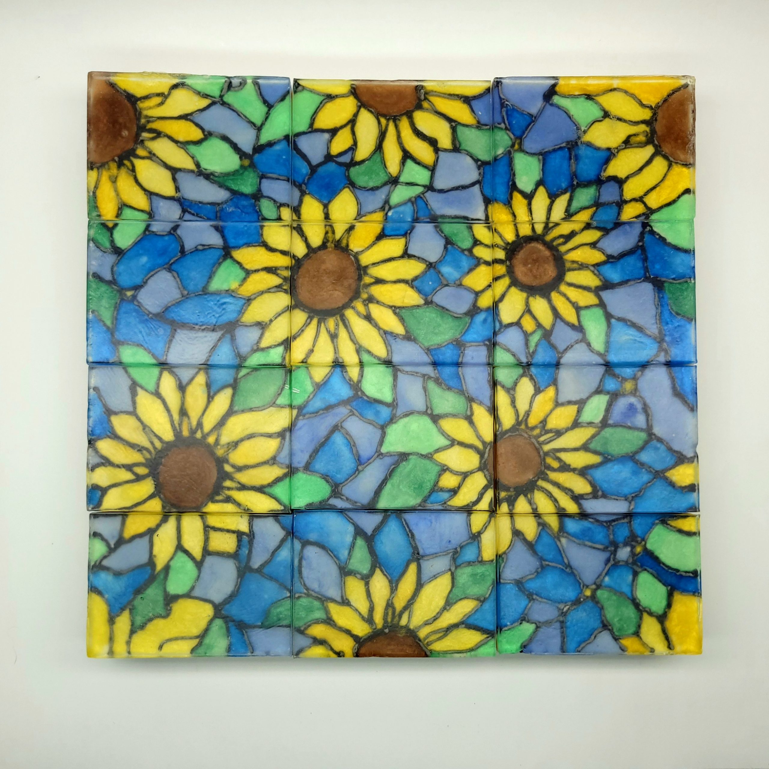 stained sunflowers