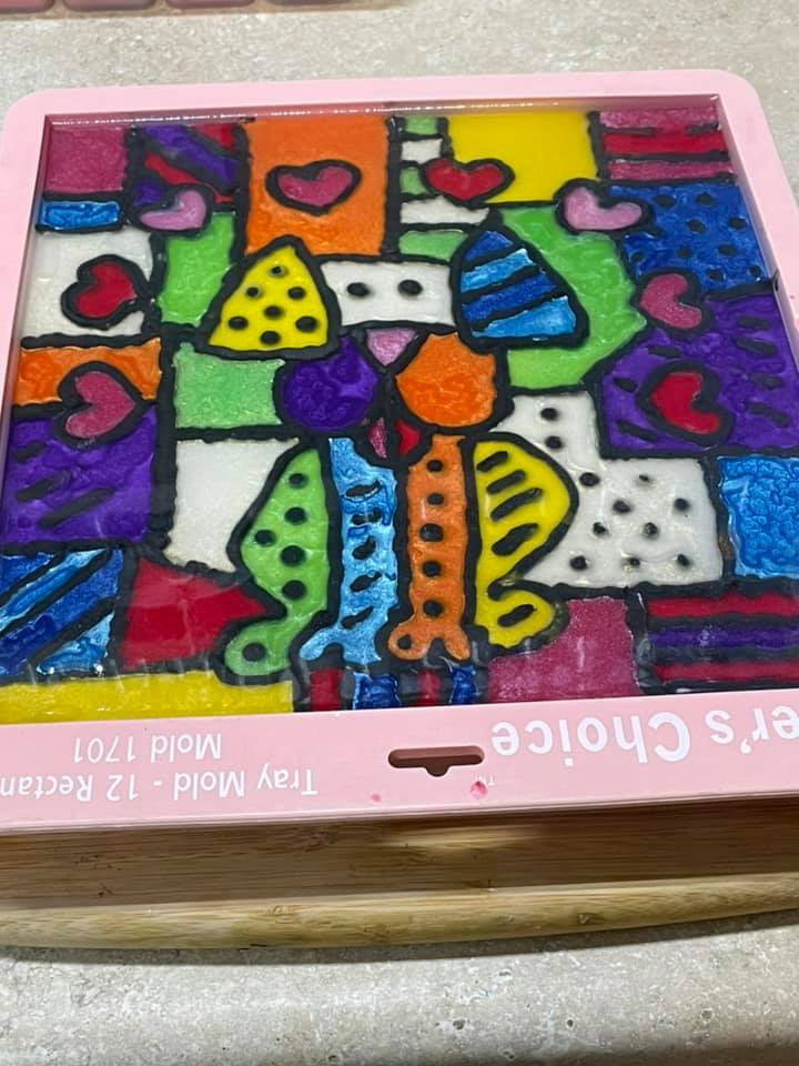 britto inspired pup soap