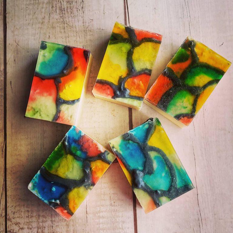 rastafarian glass soap