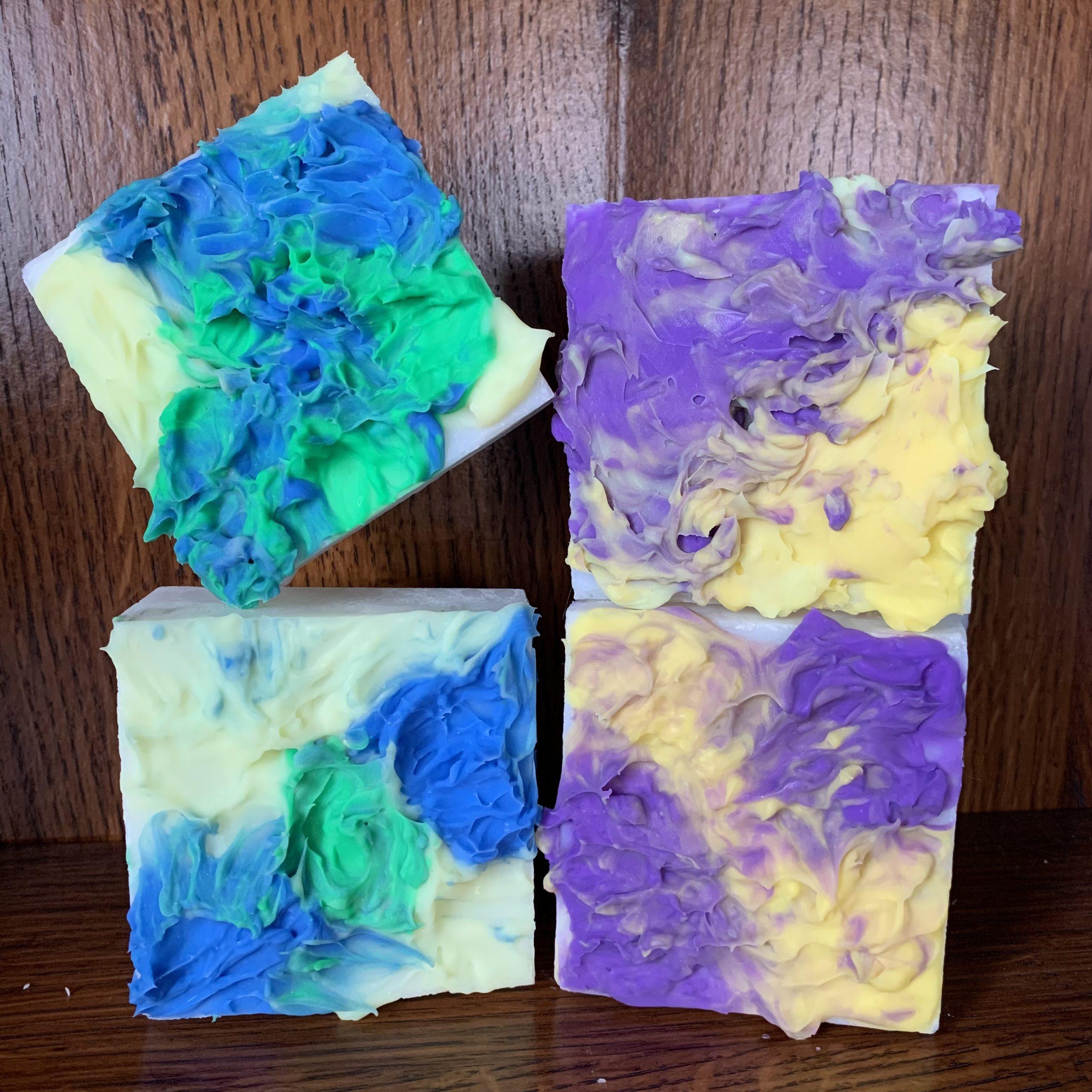 ocean and violet swirls